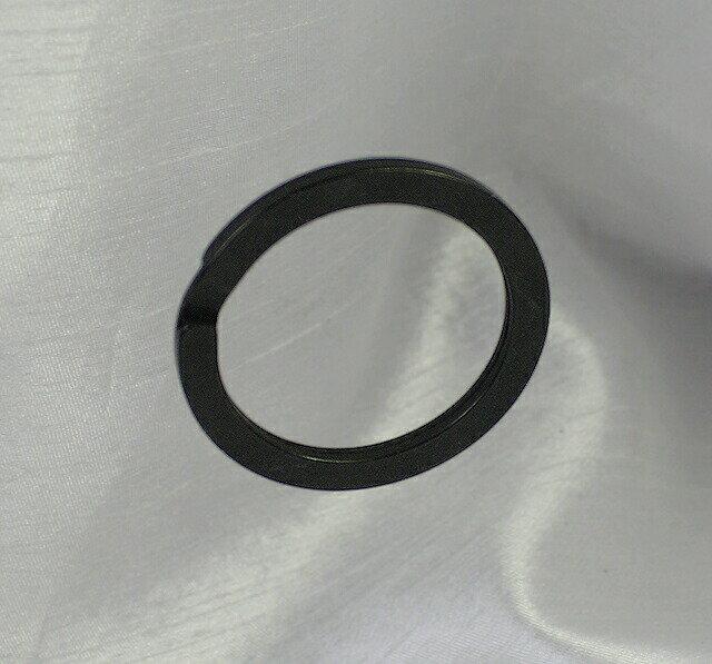 真鍮ダブルリング25mm平ダールブラック。バレル研磨。国産品。