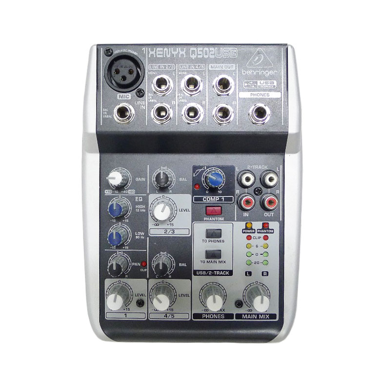 BEHRINGERベリンガーUSBオーディオミキサーXENYXQ502USBユニセックス楽器アクセサ