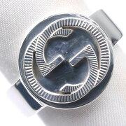【GUCCI】グッチ GG ダブルロゴ 17号 シルバー925 17号 メンズ リング・指輪【中古】Aランク
