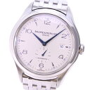 【Baume & Mercier】ボーム&メルシェ クリフトン スモールセコンド 65717/MOA10099 ステンレススチール 自動巻き メンズ シルバー文字盤 腕時計【中古】A-ランク