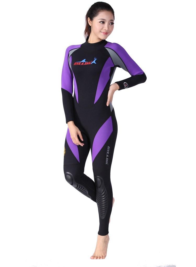 ウェットスーツ Dive&Sail 4127 1.5mm レディース ダイビングスーツ パープル 女性用 XS/S/M/L 送料無料