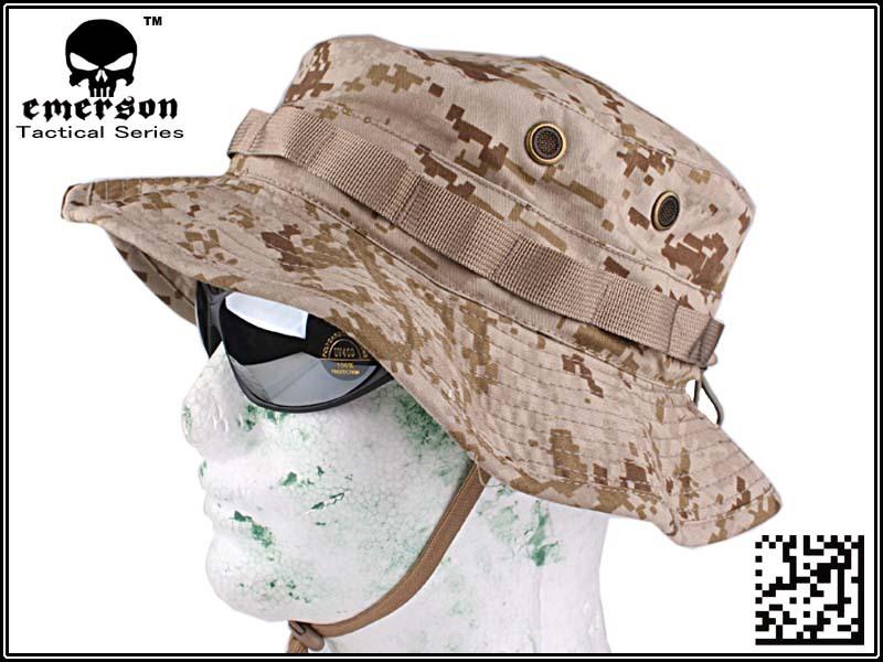 ブーニーハット 迷彩 帽子 EMERSON製 ベルクロ付き サバゲー アウトドア キャンプ 迷彩 色 AOR1 サイズ 約59cm