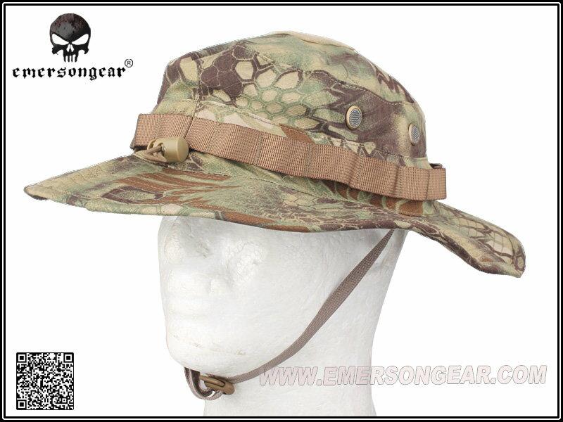 ブーニーハット 迷彩 帽子 EMERSON製 ベルクロ付き サバゲー アウトドア キャンプ 迷彩 色 MR マンドレイク