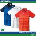 ヨネックス:YONEX ポロシャツ(フィットスタイル) 12144 UNISEX:男女兼用 ゲームウェア ゲームシャツ バドミントンウェア テニスウェア 日本バ...