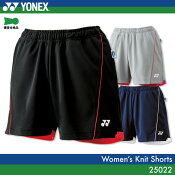 当店人気商品 在庫有ります ヨネックス:YONEX 25022WOMEN:女性用 ニットショートパンツゲームウェア バドミントン・テニスウェア 日本バドミントン協会審査合格品 サイズ:SS,S,M,L,O,XO