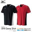 【サイズ有ります】 mizuno:ミズノ ゲームシャツ72MA6003 バドミントンウェア ゲームウェア UNISEX:男女兼用 日本バドミントン協会審査合格品