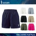ゴーセン:GOSEN ウィメンズハーフパンツ PP1601 レディース 女性用 ゲームパンツ バドミントン・テニスウェア 日本バドミントン協会審査合格品