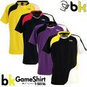 black knight:ブラックナイト ゲームシャツ T-50116 バドミントンウェア ゲームウェア UNISEX:男女兼用 日本バドミントン協会審査合格品