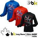ブラックナイト:black knight bkロング 66AW T-6206 UNISEX:男女兼用 ロングTシャツ・長袖Tシャツ バドミントン Tシャツ