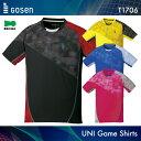 ゴーセン:GOSEN ゲームシャツ T1706 UNI:男女兼用 ゲームウェア バドミントン・テニスウェア 日本バドミントン協会審査合格品
