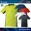 ゴーセン:GOSEN ゲームシャツ T1726 UNISEX:男女兼用 ゲームウェア ゲームシャツ バドミントン テニス バドミントンウェア...