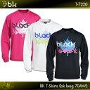ブラックナイト:black knight BK Tシャツ(bkロング70AW)T-7220 UNISEX:男女兼用
