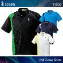ゴーセン:GOSEN ゲームシャツ T1500 UNISEX:男女兼用 ゲームウェア バドミントンウェア テニスウェア 日本バドミントン協会...