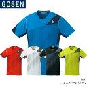 ゴーセン:GOSEN ゲームシャツ T1616 UNISEX:男女兼用 ゲームウェア バドミントン・テニスウェア 日本バドミントン協会審査合格品