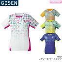 ゴーセン GOSEN ゲームシャツ T1807 レディース 女性用 ゲームウェア ゲームシャツ バドミントン テニス バドミントンウェア テニスウ..
