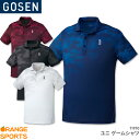 ゴーセン GOSEN ゲームシャツ T1910 ユニ 男女兼用 ゲームウェア ユニフォーム バドミントン テニス バドミントンウェア テニスウェア 日本バドミントン協会審査合格品