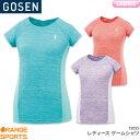 ゴーセン GOSEN ゲームシャツ T2025 レディース 女性用 ゲームウェア ユニフォーム バドミントン テニス バドミントンウェア テニスウェア 日本バドミントン協会審査合格品 アインフィルハーモニックシリーズ