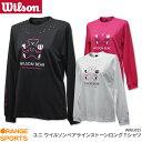 ウイルソン Wilson ウイルソンベア ロングTシャツ WRBJ825 ユニ 男女兼用 バドミントン Tシャツ 長袖Tシャツ ラインストーン バドミン..
