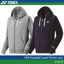 ヨネックス:YONEX スウェットパーカー(フィットスタイル) 31013 UNISEX:男女兼用 トレーニングウェア バドミントン・テニスウェア