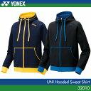 ヨネックス:YONEX スウェットパーカー 32010 UNI:男女兼用 バドミントン・テニスウェア トレーニングウェア