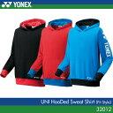 (入荷しました)◯印は現在の在庫 ヨネックス:YONEX スウェットパーカー(フィットスタイル) 32012 UNISEX:男女兼用 トレーニングウェア バドミ...