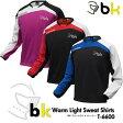 ブラックナイト:black knight ウォームアップライトトレーナー T-6600 UNISEX:男女兼用 トレーニングウェア スウェットバドミントン・テニスウェア 裏起毛