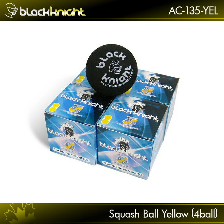 black knight ブラックナイト BKボールイエロードット (4個) AC-135-YELL スカッシュ スカッシュボール