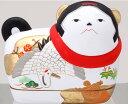 【須はら飾り 錦彩犬筥 鶴亀(小 左) 出産祝 結婚祝 雛祭...