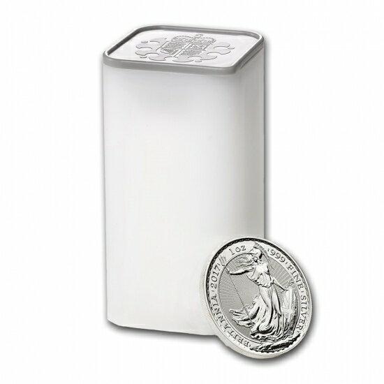新品未使用 2017 イギリス ブリタニア銀貨1オンス100枚セット (ミントロール【4本】セット)