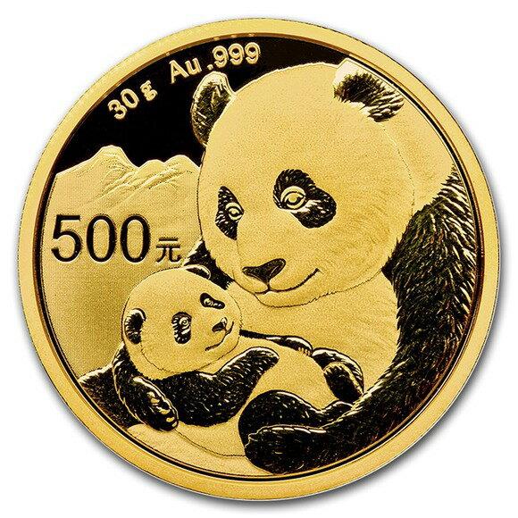 2019 中国 パンダ 金貨 30グラム 500元 5枚セット 真空パック入り 新品未使用
