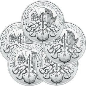 2021 オーストリア ウィーン銀貨 1オンス ■【5枚】セット 37mmクリアーケース付き 新品未使用