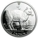新品未使用 1988 マン島 1オンス 1クラウン銀貨プルーフ マンクスキャット