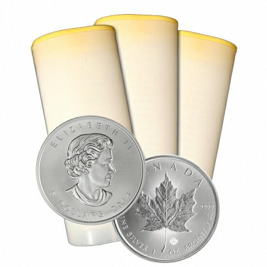 2015年製造 カナダメイプルリーフ銀貨 (1オンス) 250枚(25枚組10本)セット