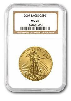 【2007年】  1オンス イーグル金貨 MS-70 NGC