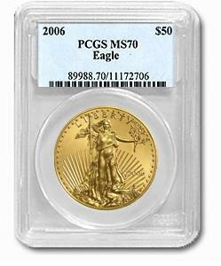 【2006年】  1オンス イーグル金貨 MS-70 PCGS