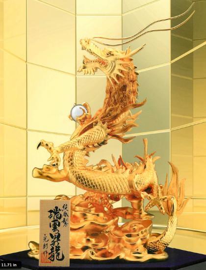 純金 瑞雲昇竜 A 1,660グラム(450×340×600)