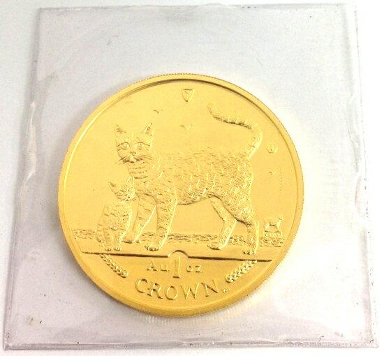 マン島キャット金貨2002年製 1オンス クリアーケース付き C