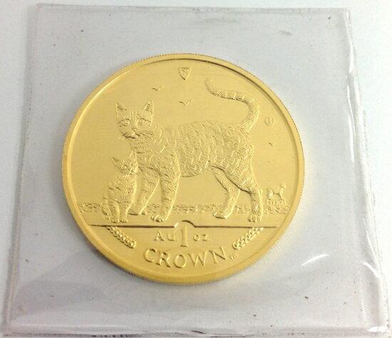マン島キャット金貨2002年製 1オンス クリアーケース付き B