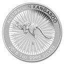 新品未使用 2018 オーストラリア カンガルー銀貨 1オンス 41mmクリアーケース付き - 野口コイン株式会社