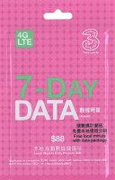 香港ハチソン3HK4GLTEプリペイドSIMカード