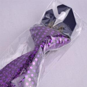 【カラオケ衣装】【ステージ衣装】スパンコールネクタイ(紫・パープル)