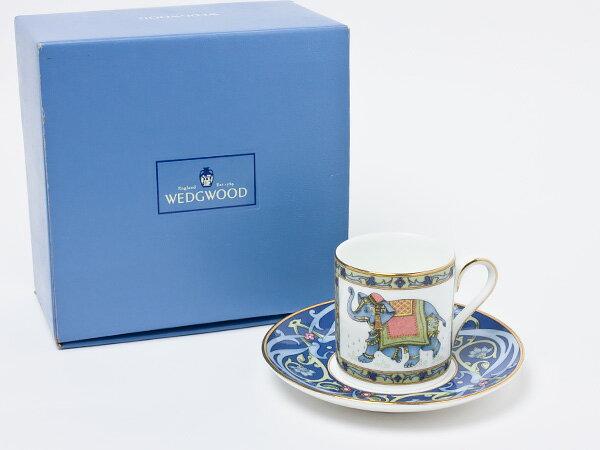 【送料無料】ウェッジウッド ブルーエレファント デミタスカップ&ソーサー wedg-56お茶のふじい・藤井茶舗