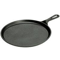 LODGE(ロッジ) 正規品 ラウンドグリル 8-3/8 L6OG3 19240202ブラック ダッチオーブン クッキング用品 バーべキュー スキレット スキレット アウトドアギアの画像