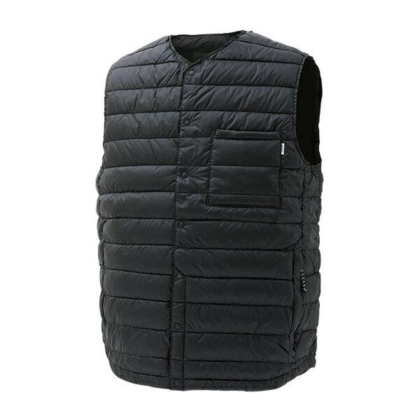 NANGA(ナンガ)ダウンベスト/BLK/MDVT106男性用ブラックカットソーTシャツトップス長袖
