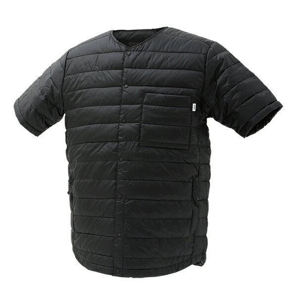 NANGA(ナンガ)ダウンTシャツ/BLK/XLDT112男性用ブラックカットソーTシャツトップス半
