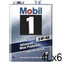 モービル モービル1 5W-40 SN A3/B3,A3/B4 化学合成油 4L×6 【送料無料】【代引不可】【時間指定不可】