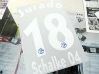 シャルケ04 10/11, 11/12 #18 Jurado ホセ・マヌエル・フラード オフィシャルネームナンバーの画像