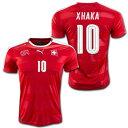 スイス代表 2016 ホーム(赤) #10 XHAKA グラニト・ジャカ プーマ