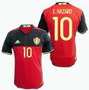 ベルギー代表 2016 ホーム(赤)  #10 E.HAZARD アザール ユーロ2016 ADIDAS