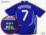 中田選手の代表ラストモデル!日本代表 2006 ホーム #7 中田英寿 マッチデー付き adidas製 インターナショナル仕様